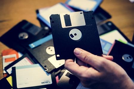 Floppy disks 版權商用圖片