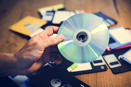 Disks and floppy disks 写真素材