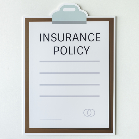 Insurance policy information form icon Foto de archivo - 109569942