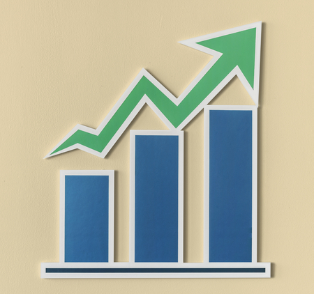 Business growth bar chart icon Imagens - 109567565