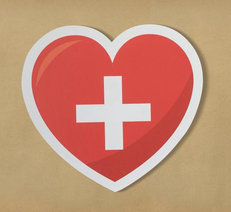 Symbol of a health heart icon