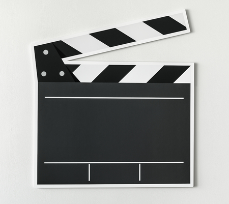 Black and white clapper board icon