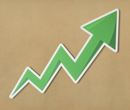 Growth up arrow icon isolated