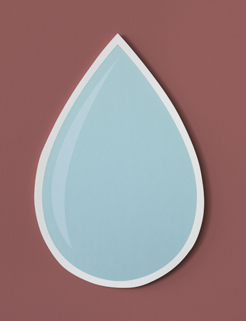 Water drop cut out icon 版權商用圖片 - 109568322