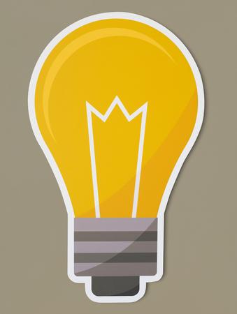 Creative light bulb icon isolated Archivio Fotografico - 109568333
