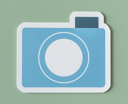 Icon of blue paper camera