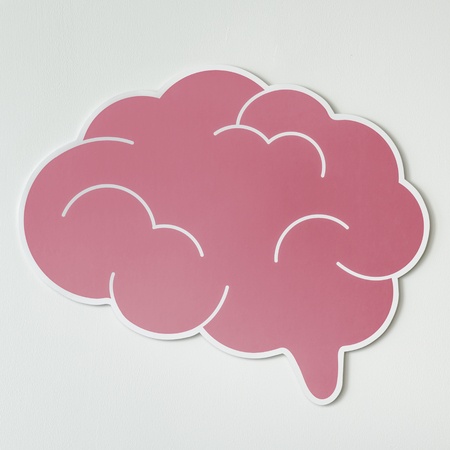 Pink brain creative ideas icon Stok Fotoğraf - 109568153