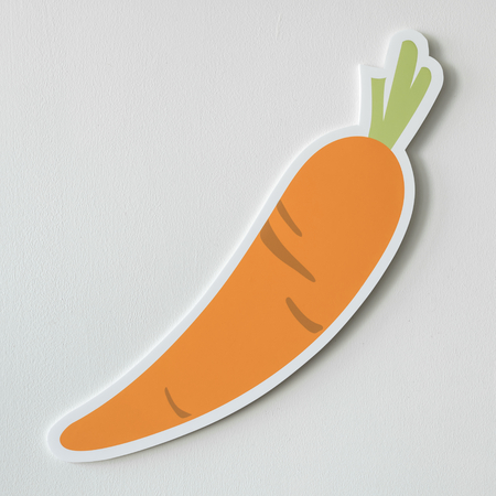 Healthy nutritious carrot cut out icon Stock Photo