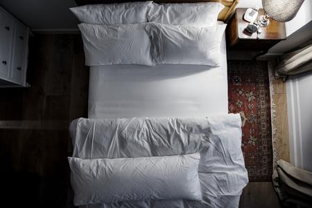 Bedroom with no people 版權商用圖片