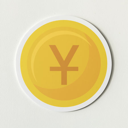 Chinese yuan and Japanese yen coin Stock Photo