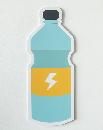 Sports drink energy beverage icon