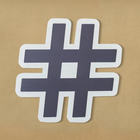 Hashtag digital media feed icon