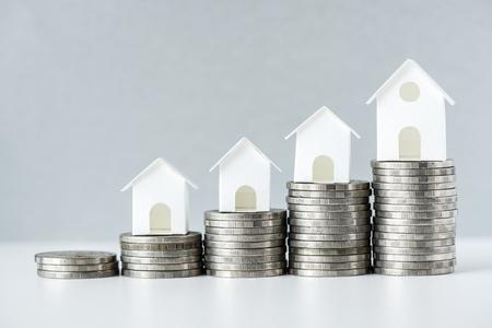 Macro-opname van verhoging van het concept van de hypotheekrente Stockfoto