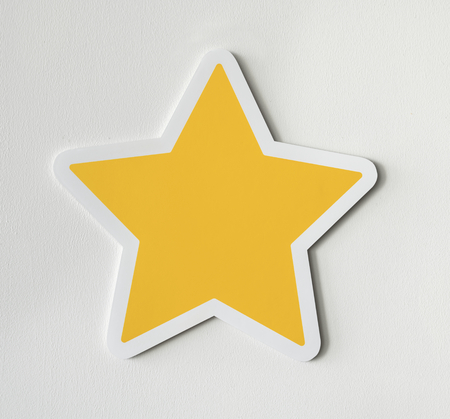 Paper craft of star icon