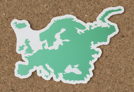 Blank map of Europe and countries Standard-Bild - 109568174