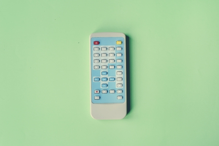 Remote control channel switch keypad isolated on background 写真素材