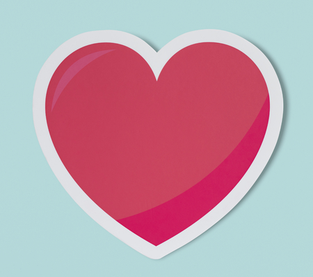 Heart like love romance icon