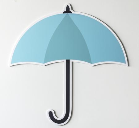 Protection umbrella securuty symbol icon