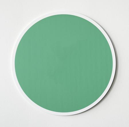 Green circle button icon isolated Reklamní fotografie