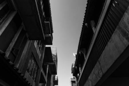 Old town buildings in Bangkok