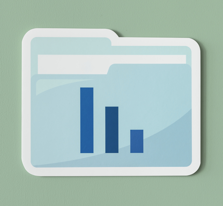 Business analysis report folder icon 스톡 콘텐츠 - 109569510
