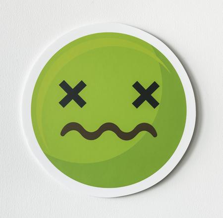 Sick face emoticon emoji symbol Archivio Fotografico - 109568845