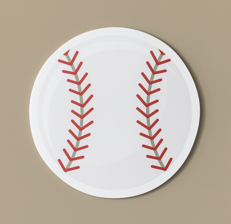 Cut out paper baseball graphic Stock Photo