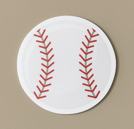 Cut out paper baseball graphic Фото со стока