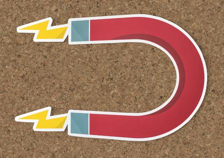 Magnet horseshoe magnetic icon isolated Stock Photo