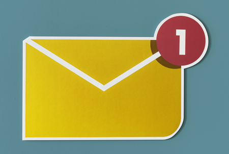 New incoming message email icon Stok Fotoğraf - 109568704
