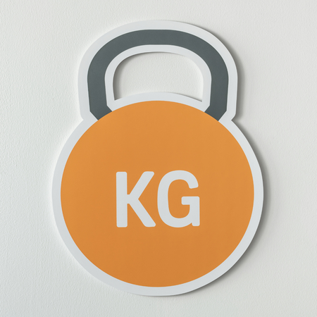 Kettlebell heavy weight lifting icon 스톡 콘텐츠 - 109568707
