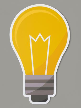 Creative light bulb icon isolated Archivio Fotografico - 109568717
