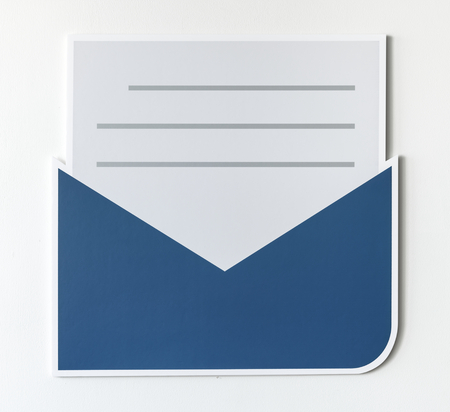 Open letter email alert icon Stok Fotoğraf - 109568725