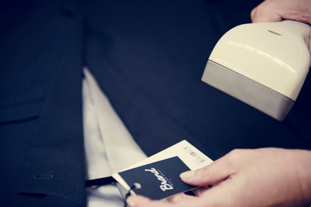 Barcode scanner Banco de Imagens