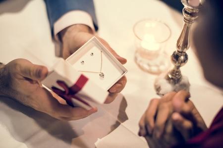 Cadeau de la Saint-Valentin Banque d'images