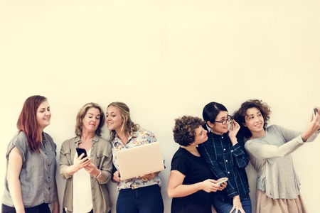 Diverse group of women hanging out Фото со стока - 109570994