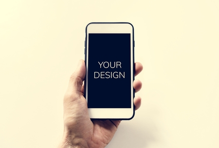Your design on a smartphone screen