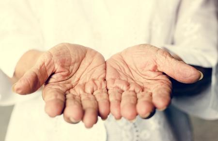 Hands pleading believe hope Stock Photo