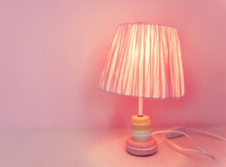 Feminine Style Lamp in a Pink Room