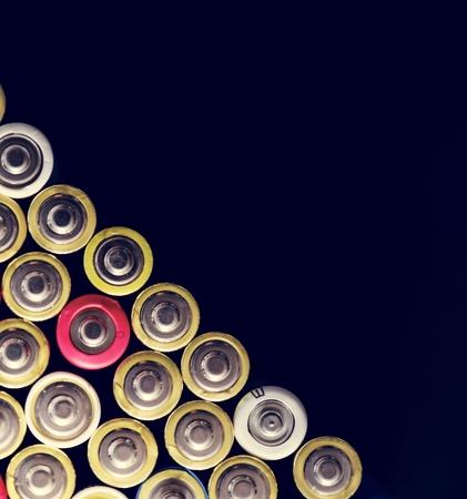 Various of alkaline battery background