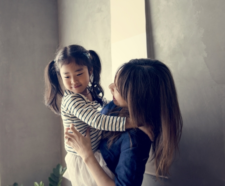 Japanese mother and daughter 스톡 콘텐츠