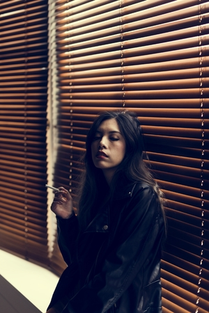 Woman lifestyle fashion shoot 스톡 콘텐츠