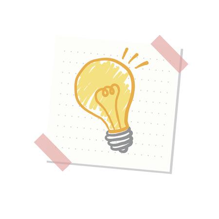 Ideas and light bulb illustration Banco de Imagens - 109661520