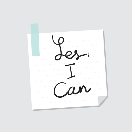 Yes I can note illustration Imagens - 109661289