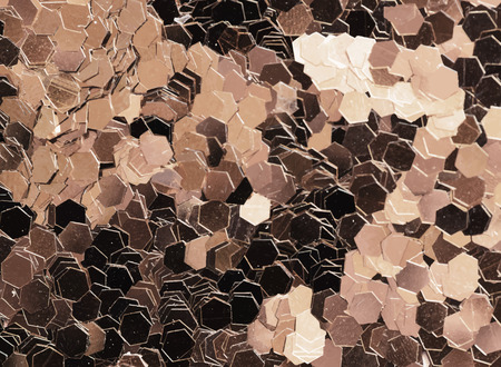 Shiny copper glitters textured background