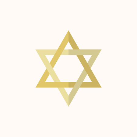 Illustration of the star of david isolated on a white background