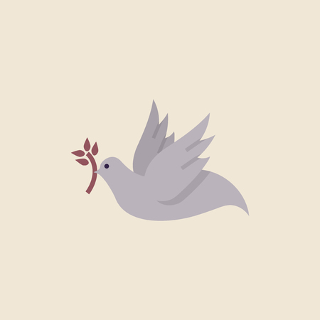 Illustration of a dove of peace 版權商用圖片
