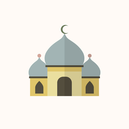 Illustration of a Islamic mosque isolated on a white background
