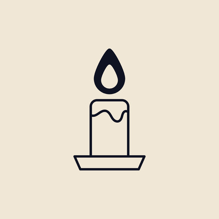 Illustration of a candle, the light of god