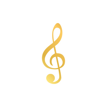 Illustration of a treble clef musical note Stock fotó
